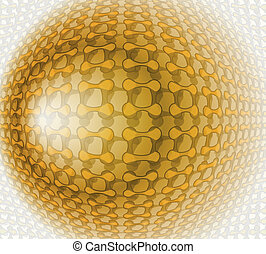 Gold design abstract vector Illustration