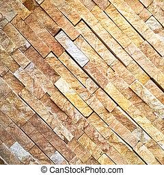 Gold diagonal stone wall