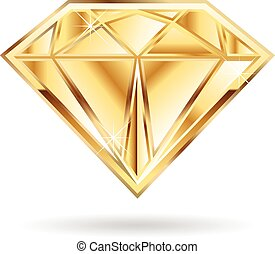Gold diamond logo. - Gold diamond  logo.