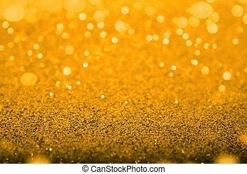 Gold diamond shiny glitter abstract bokeh for christmas background