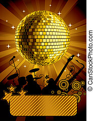 Gold disco ball - Raster version of vector gold disco ball...