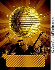 Gold disco ball - Raster version of vector gold disco ball...