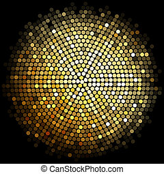 gold disco lights background - Vector gold disco lights...