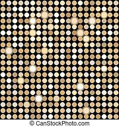 Gold disco lights background