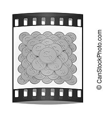 Gold dollar coins. The film strip