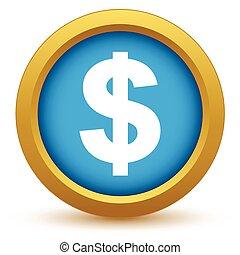 Gold dollar icon