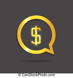gold dollar sign vector illustration