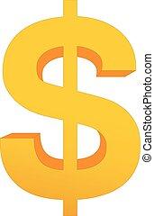 gold dollar vector isolated