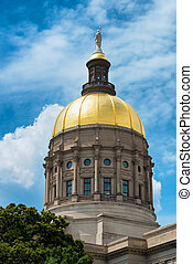 Gold dome of Georgia Capitol in Atlanta
