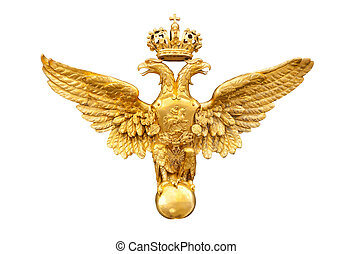 gold double eagle isolated on a white background