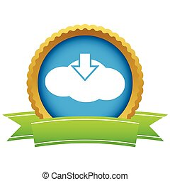 Gold download cloud logo
