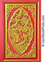 Gold dragon texture