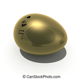 Gold egg with mark