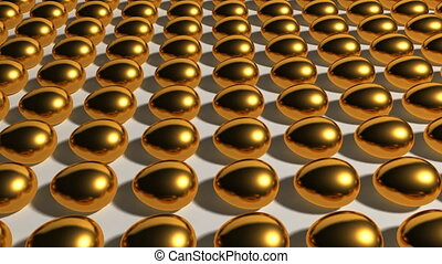 gold eggs industry - This 3d animation can use at any theme...