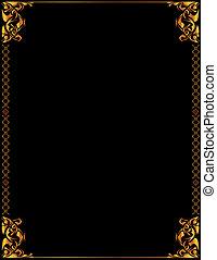 Gold elegant background 5 - Gold elegant frame design on a...