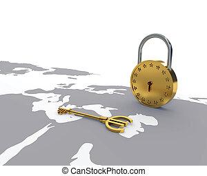Euro key and lock