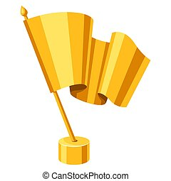 Gold fag prize icon. Illustration of award for sports or ...