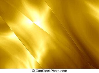 gold, farbe, licht, abstrakt, hintergrund., form