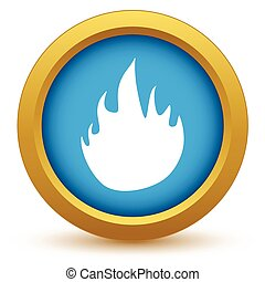 Gold fire icon