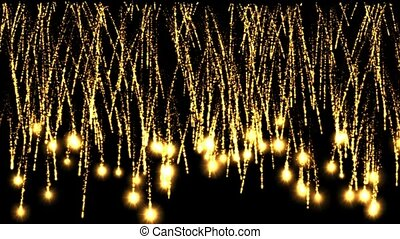 gold fireworks and light,blinker