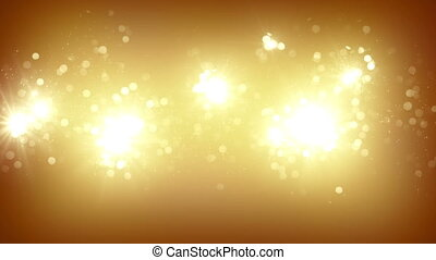 gold fireworks slowmotion loopable background