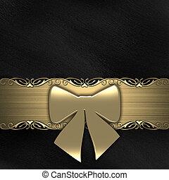 (gold), fita, experiência preta, presente