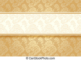 Gold flower on background