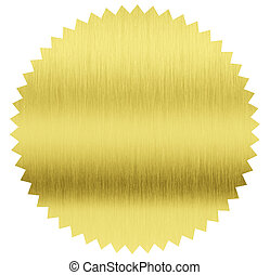 gold foil stamp with clipping path included