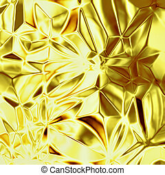 Gold foil texture, yellow alloy background