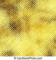 Gold foil texture, yellow metallic background