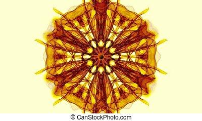Gold fractal patterns on beige background, live fractal...
