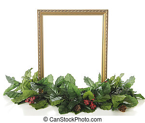 Gold Frame and Holly