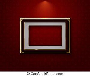 gold frame border picture thai art