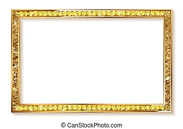 gold frame cinema on a white background.