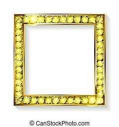 gold frame cinema on a white background