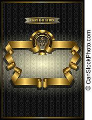 Gold frame for awards