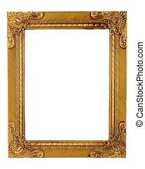 gold frame - gold ornate frame and border