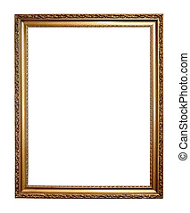 Gold frame isolated on a white background