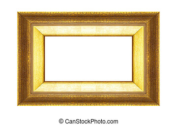 gold frame isolated on black background