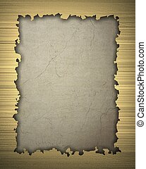 Gold frame isolated on vintage background