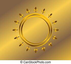 Gold frame new design bright