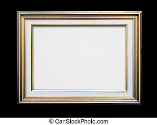 Gold frame on black