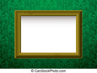gold frame on green