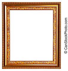 Gold frame on white