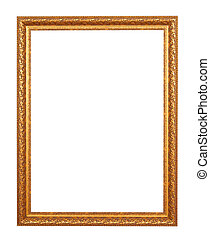 gold frame - gold frame. Isolated over white background with...
