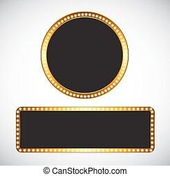 Gold Frame Template Vector Illustration