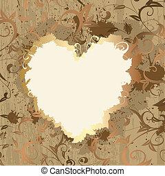 Gold frame valentine