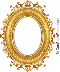 gold frame - Vector illustration of gold vintage frame