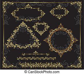 gold frame vintage items