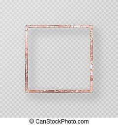 Gold frame with a grunge texture